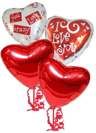 Valentines Day Balloon Bouquet Helium