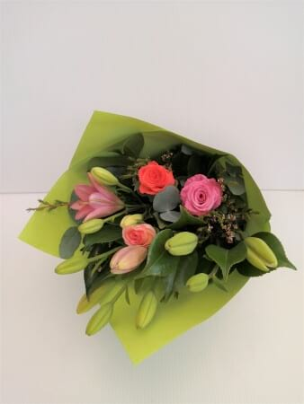 Mixed Colour Lily & Rose Bouquet